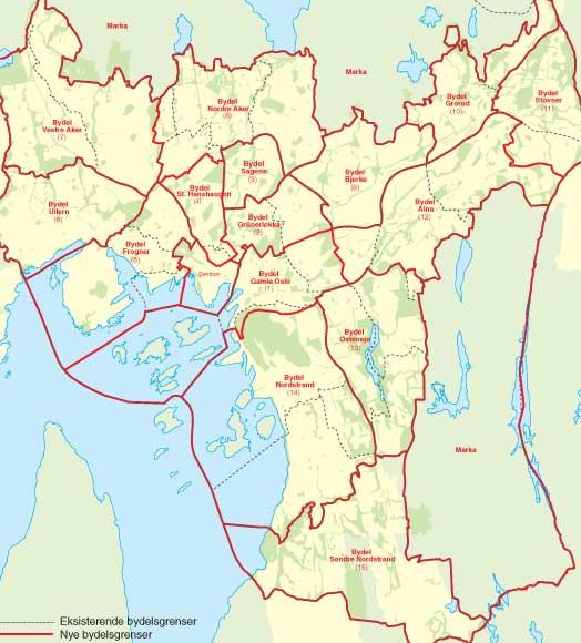 bydelsgrenser oslo kart Tekstlab   NoTa bydelsgrenser oslo kart